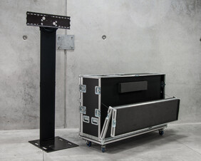 50-80in Double Pole Screen Stand Kit